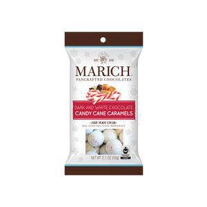 Marich Chocolates™ Dark and White Chocolate Candy Cane Caramels - 2.1oz