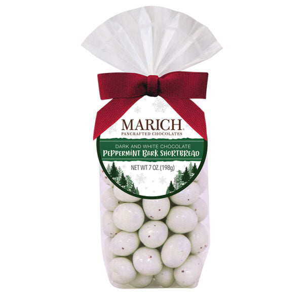 Marich Chocolate™ Dark and White Chocolate Peppermint Bark Shortbread - 7 oz