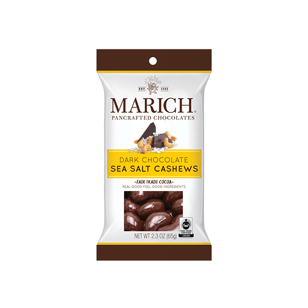 Marich Chocolate™ Dark Chocolate Sea Salt Cashews - 2.3 oz