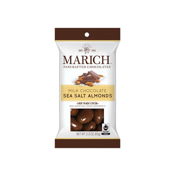 Marich Chocolate™ Milk Chocolate Sea Salt Almonds- 2.3 oz