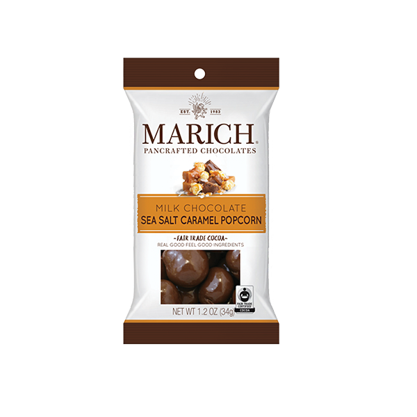 Marich Chocolate™ Milk Chocolate Sea Salt Caramel Popcorn 1.2 oz