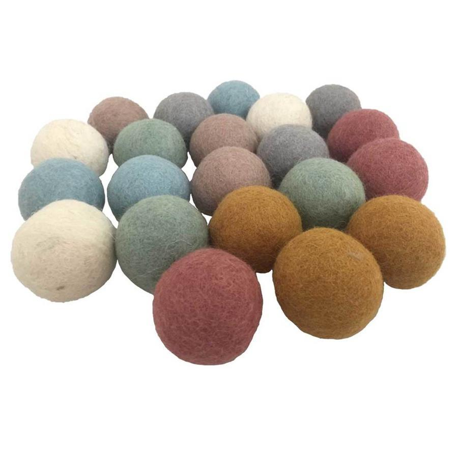 3.5cm Felt Earth Balls Colours of Australia Mustard