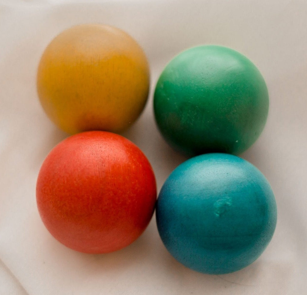 48 mm Wooden Balls set of 4 QToys