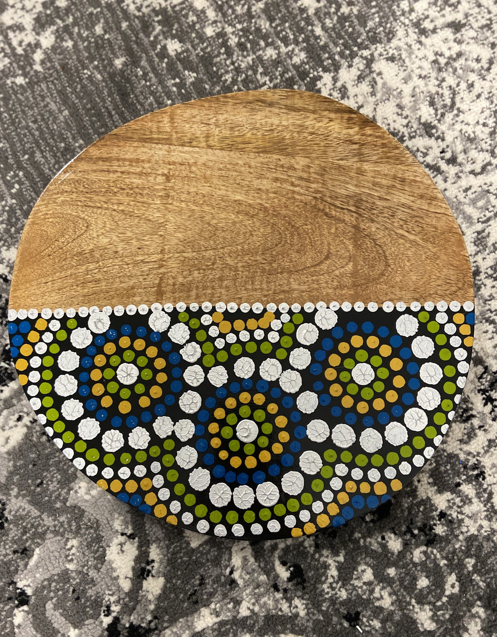 Aboriginal Design Board - Greens Barka Art