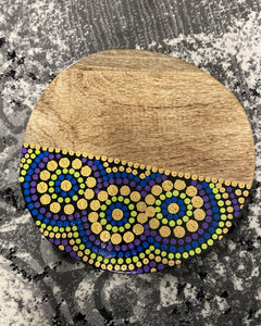 Aboriginal Design Board - Purples Barka Art