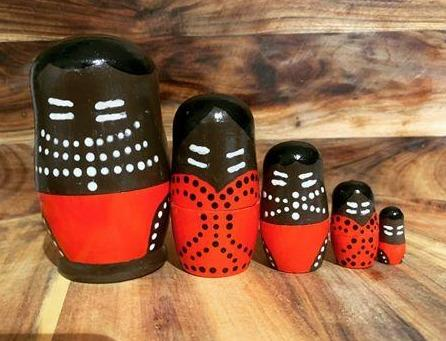 Aboriginal Nesting Dolls Barka Art