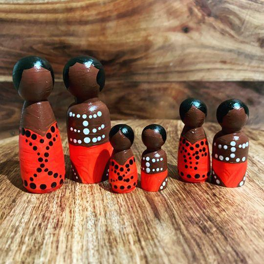Aboriginal Peg Dolls Barka Art