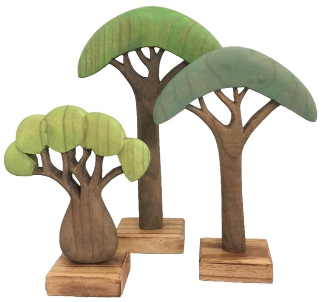 African Wooden Tree - Set of 3 Colours of Australia