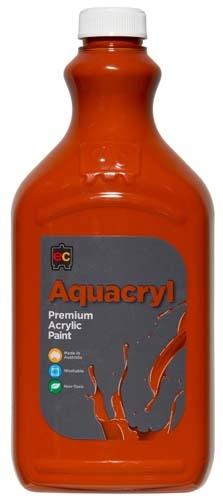 Aquacryl Premium Acrylic 2L Paint (Arriving Mid March) Edvantage Burnt Sienna