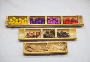 Bamboo Sorting Trays - Set of 3 (Arriving Early Feb) QToys