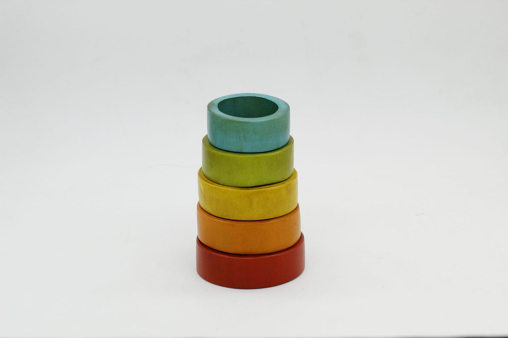 Bamboo Stacking Rings QToys