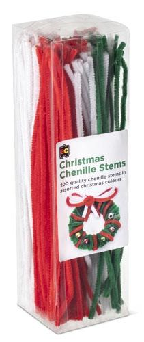 Christmas Chenille Stems (Arriving Mid March) Edvantage
