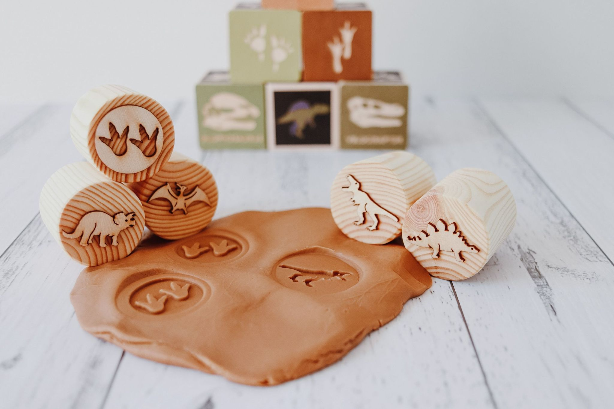 Dinosaur Playdough Stamps Beadie Bugs