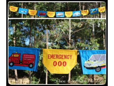 Emergency Services Bunting Siham Craft