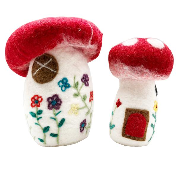 Felt Mushroom Houses - Set of 2 Colours of Australia