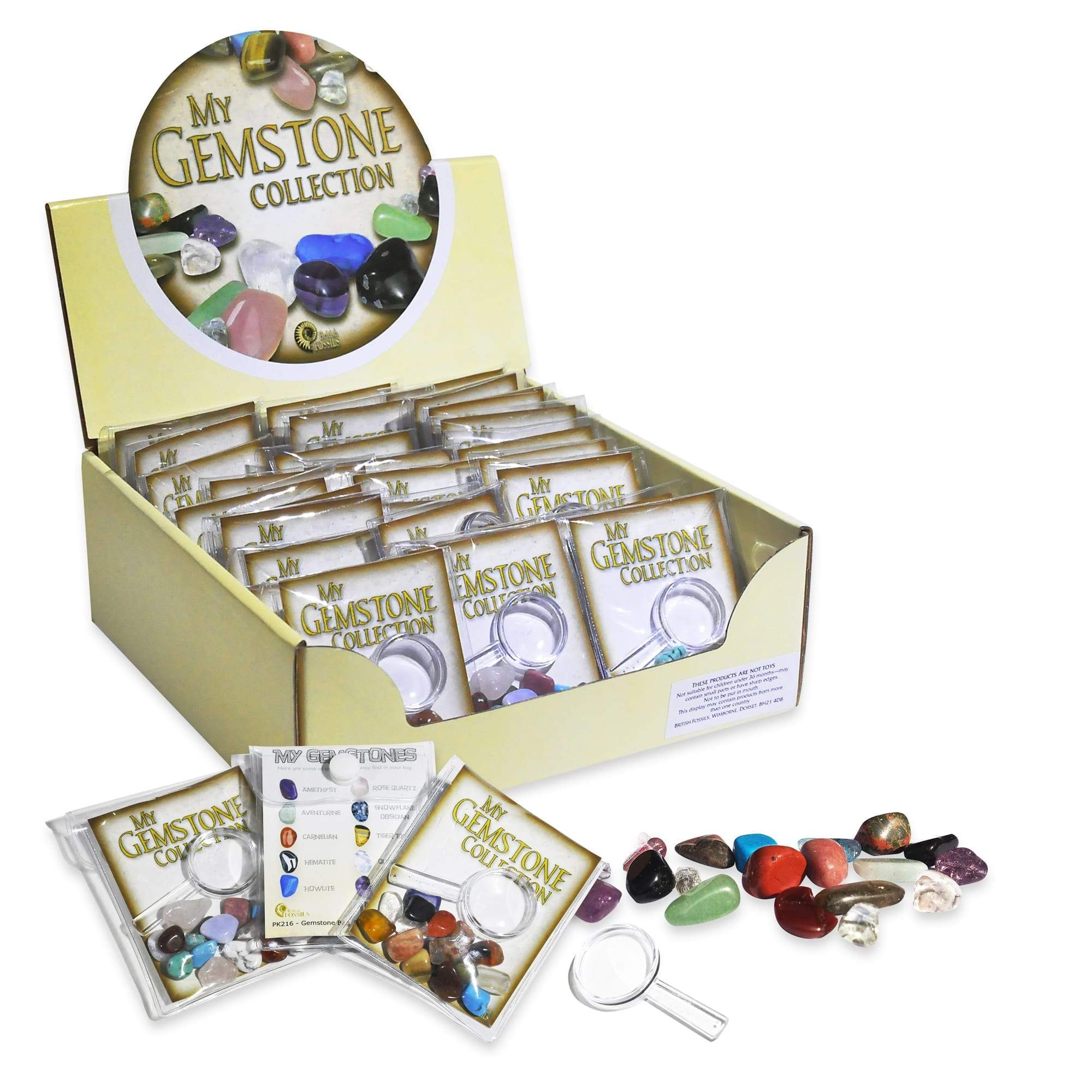 Gemstone Magnifier Pack (Arriving Mid March) Science Nature