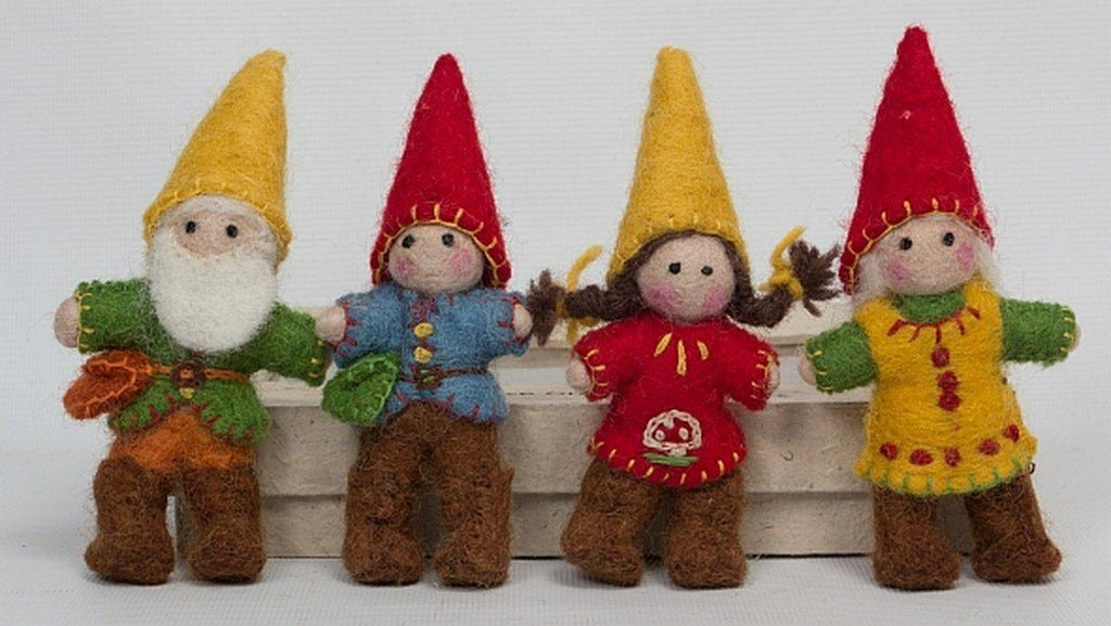 Gnome Family of 4 Colours of Australia