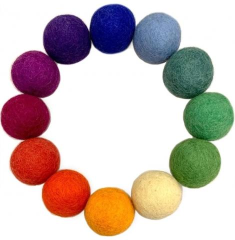 Goethe 5cm Felt Balls, Set of 36 Colours of Australia