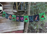 Load image into Gallery viewer, Indigenous Ceremony Symbols Bunting Siham Craft