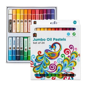 Jumbo Oil Pastels - Set of 24 Edvantage