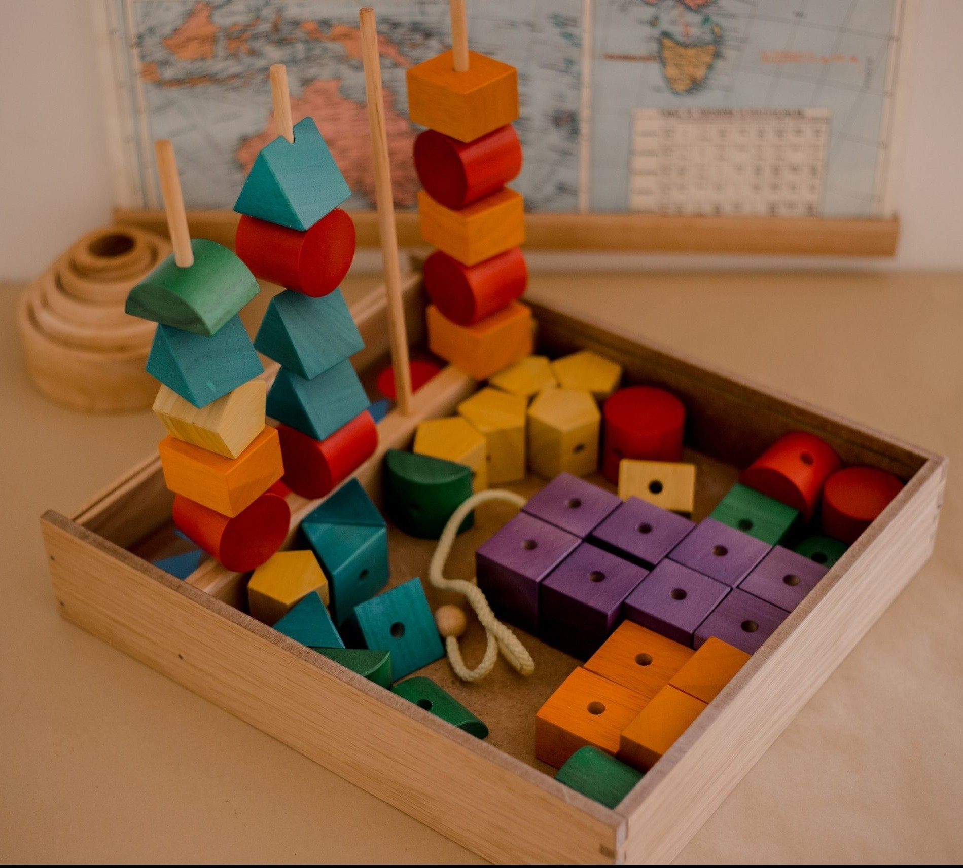 Jumbo Wooden Sequencing Blocks QToys