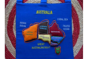 Map/ Puzzle Velcro Australia Wall Hanging Siham Craft