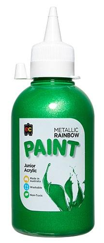 Metallic Rainbow Junior Acrylic 250ml Green (Arriving Mid March) Edvantage