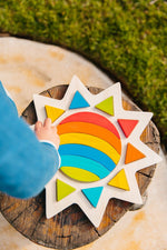 Load image into Gallery viewer, Rainbow Sun Puzzle (Arriving Early March) Freckled Frog