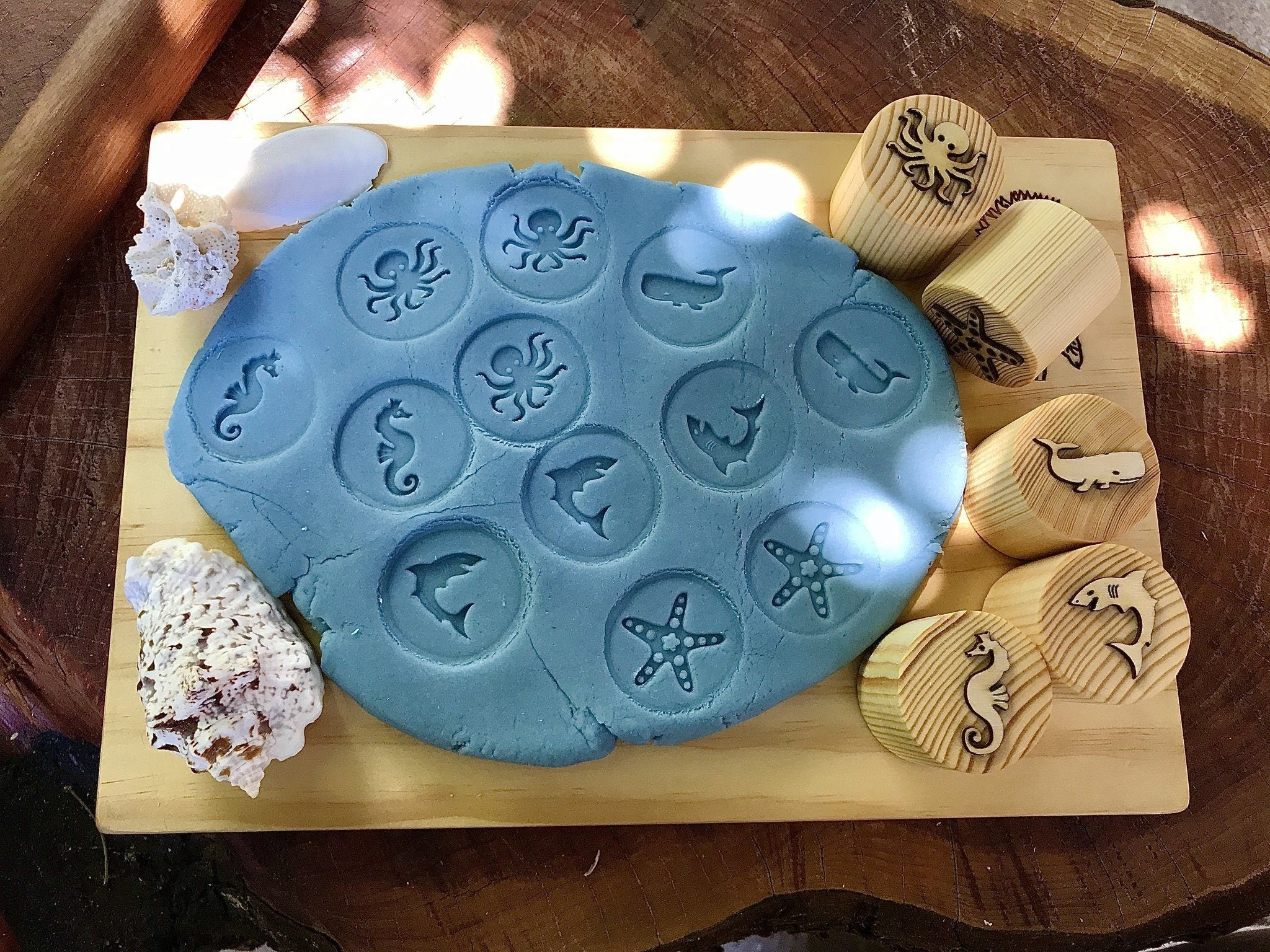 Sea Creatures Playdough Stamps Beadie Bugs