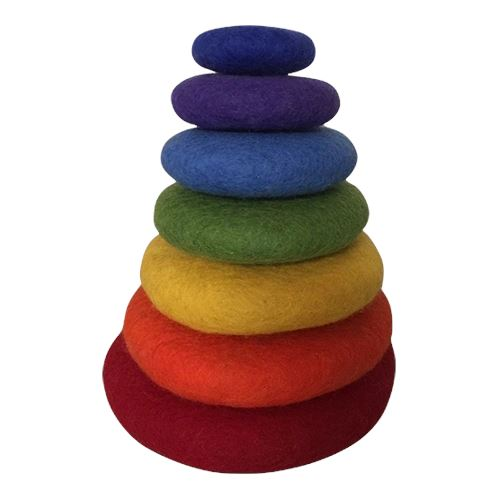 STACKING RAINBOW PEBBLES 7PC Colours of Australia