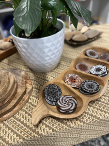 Tamarind Sorting Tray with Wooden Button Collection Inspired Childhood