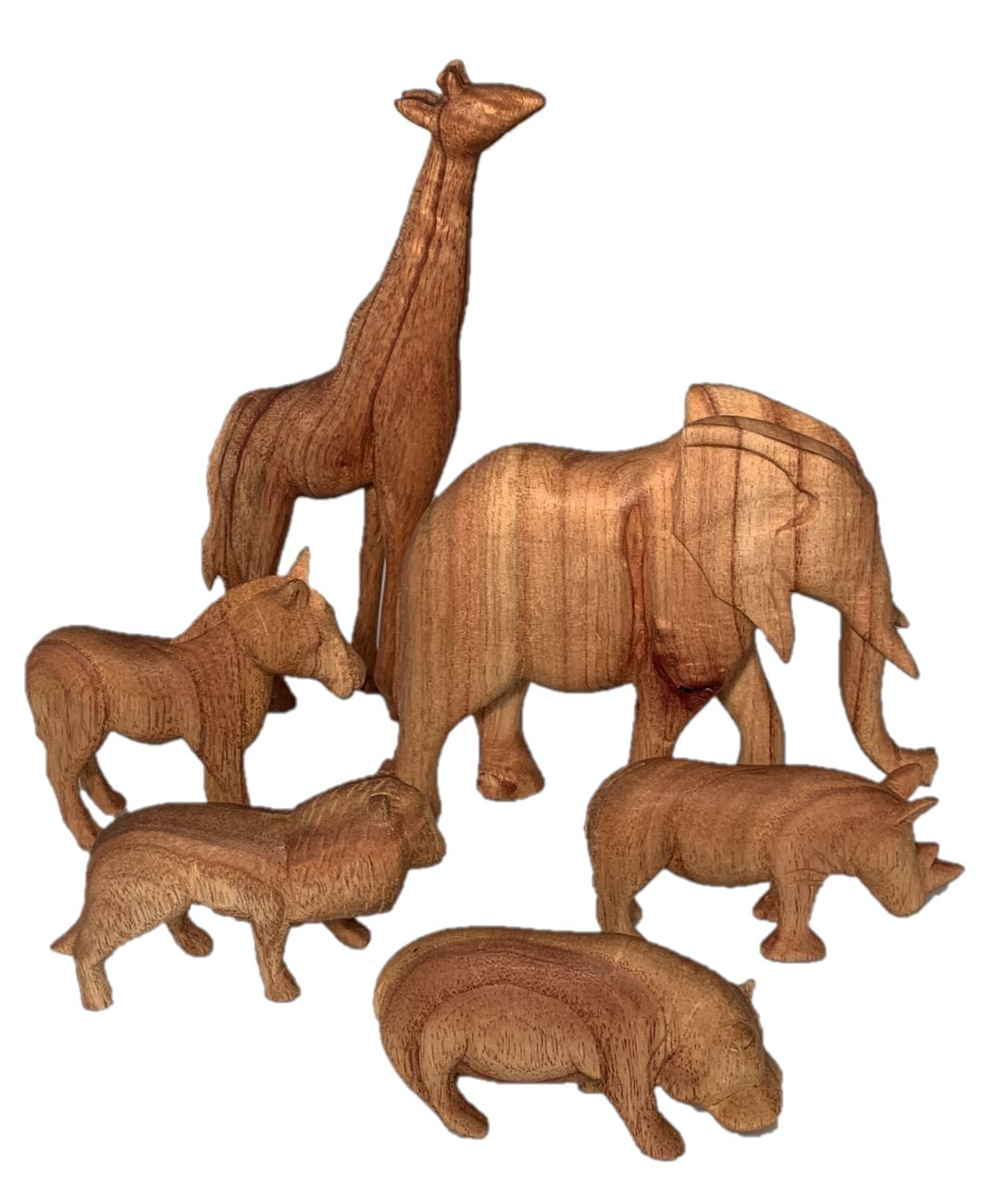 Wooden African Animals - 6 piece Colours of Australia