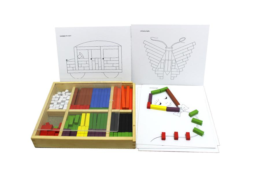 Wooden Cuisenair Learning Counting Rods QToys
