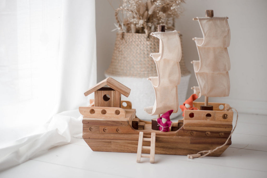 Wooden Pirate ship (Arriving Early Feb) QToys