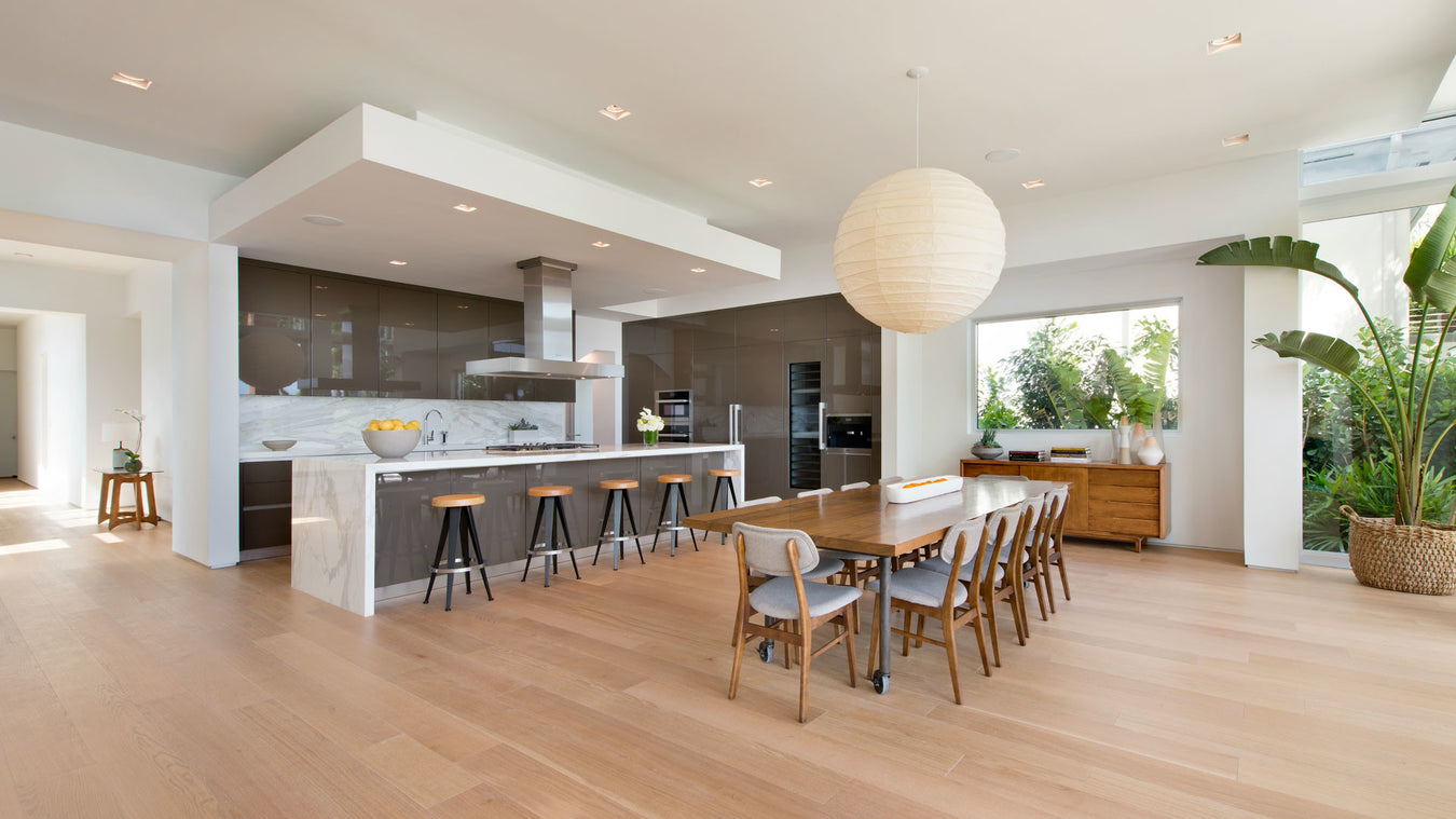 Modern kitchen flooring from Rivafloors' Gold Design.