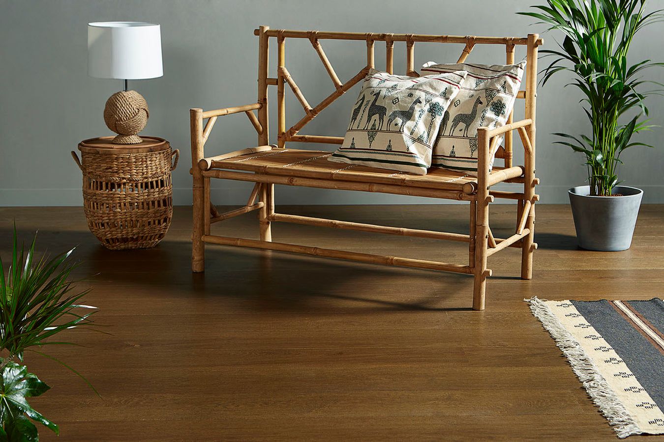 Classic hardwood flooring with a modern design from Rivafloors.