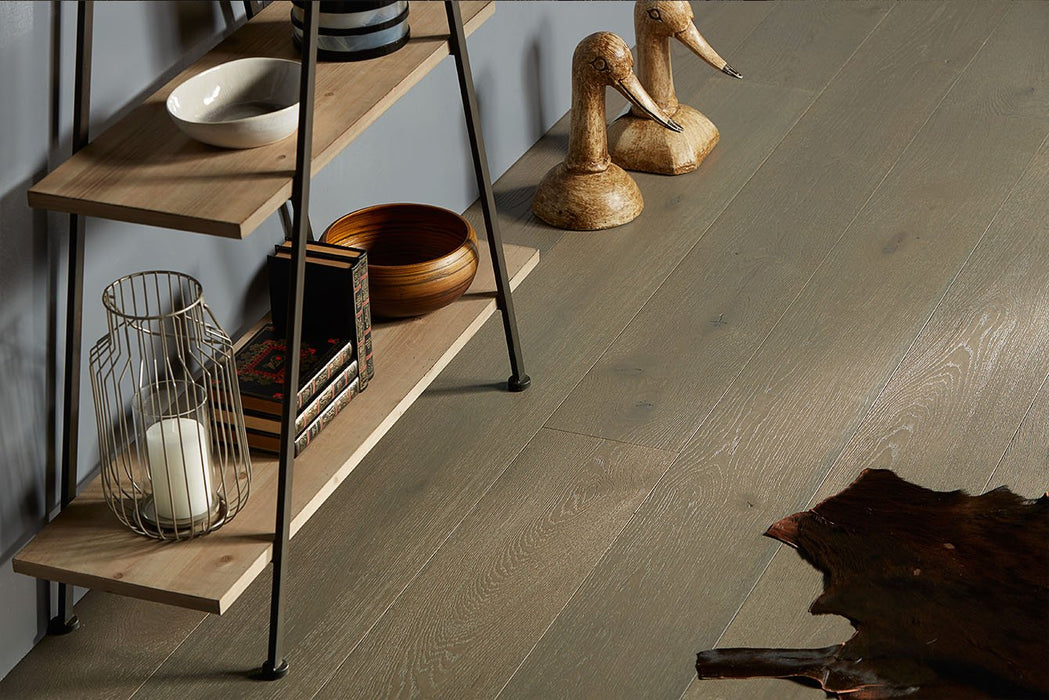 Gray Sapphire engineered hardwood with european white oak 100% made in Spain