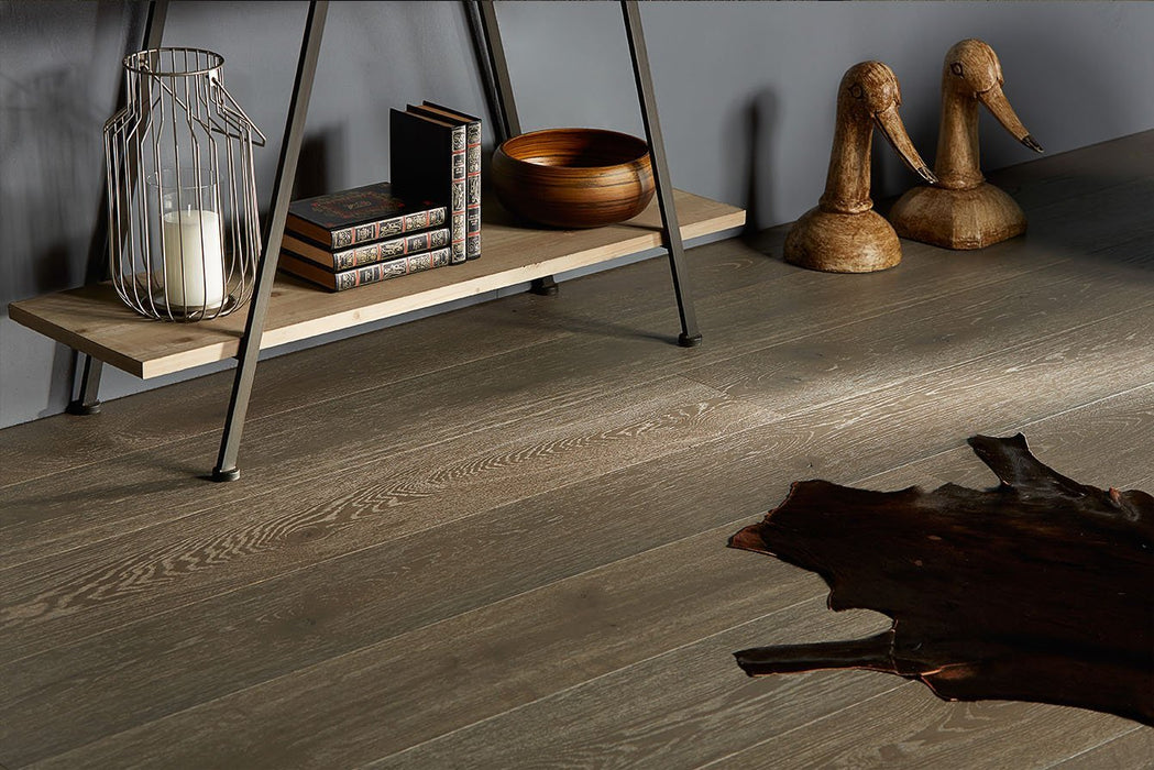 Gray Sapphire engineered hardwood with european white oak from Rivafloors