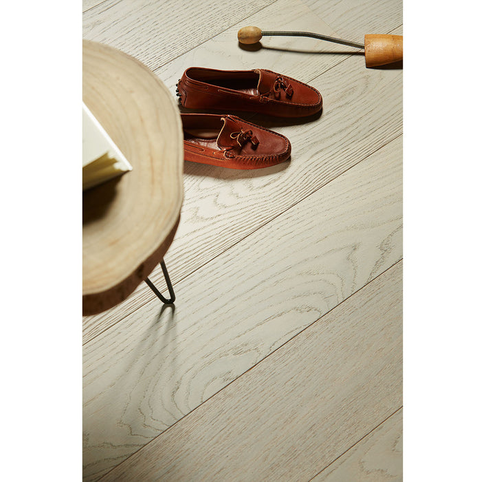 White Pearl Engineered Hardwood with European White Oak from Riva Floors