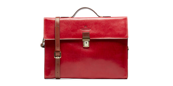 24WORK Warm and Colour leather briefcase