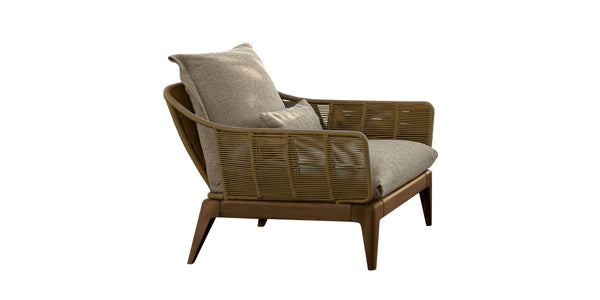 Cruise teak living armchair