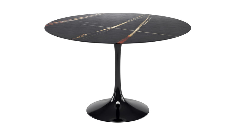 Tulip Round Dining table with Sahara marble top