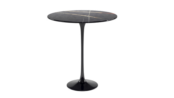 TULIP Round side table with Sahara marble top