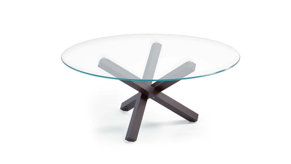 Aikido round dining table with glass top 1