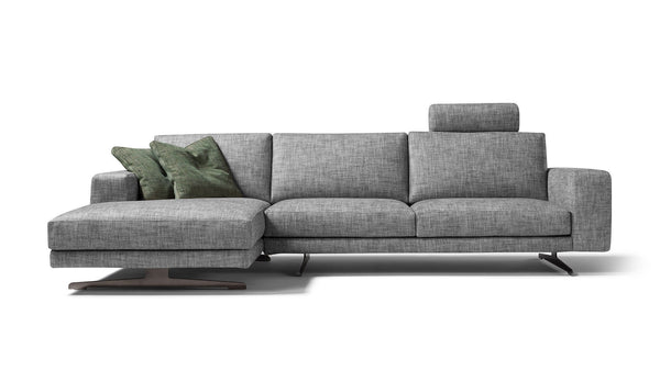 CARDIFF modular corner sofa setup customizable 2