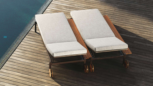 CASILDA Collection-Sunbed wooden frame outdoor 4