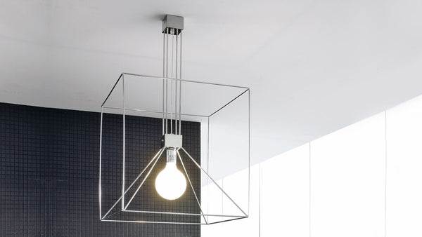 Lampe Suspension CDI Collection Cubo Reflex Lamp