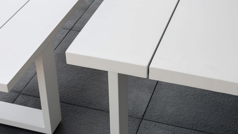 Table essence aluminium
