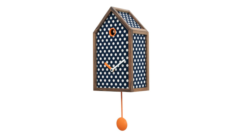 Horloge Progetti Mr Orange Polka Dots 1