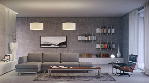 Alison modular sofa Lounge chair W53 lamp Innesto shelf Sospensione lamp Brix Dan coffee table Drappo rug Line vase Milano vase Pinktor coffee table